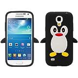 kwmobile TPU Silikon Case mit Pinguin Design für Samsung Galaxy S4 Mini i9190 / i9195 in Schwarz - Stylisches Designer Case aus hochwertigem weichem TPU