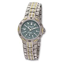 Ladies Charles Hubert IP-plated Two-tone Titanium Grey Dial Watch