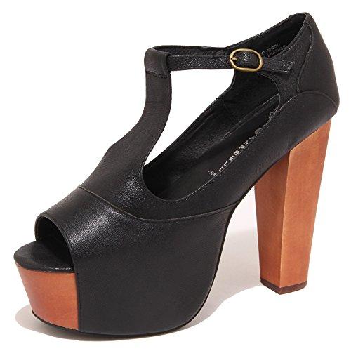 5842O sandalo JEFFREY CAMPBELL FOXY WOOD nero scarpe donna shoe woman [41]