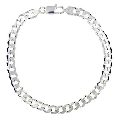 "Tuscany Silver 180 Diamond Cut Curb Bracelet 20cm/8"""