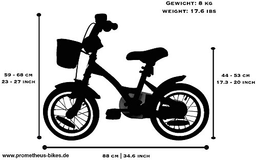 prometheus kinderfahrrad 12 zoll m dchen kinderrad in. Black Bedroom Furniture Sets. Home Design Ideas