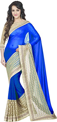 'Bollywood Designer Original Embroidered Heavy Boarder Women's Saree (BD-New-Deepika-Saree & Sari)
