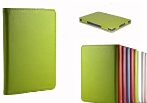 """Invision® New Kindle 4 Comfort Case TM For Kindle Wi-Fi, 6"""" inch - Full Grade Green leather (PU) with Smooth Satin Inner Lining - PREMIUM QUALITY & SUPERIOR DESIGN FEATURES - Hardback Book Style - MAGNETIC SECURE FRONT COVER CLOSURE (Please Note This Case is NOT for Kindle Touch)"""