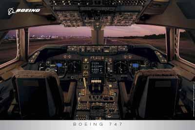 (ボーイング) BOEING 747 コックピット ポスター