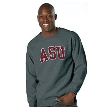 NCAA Arizona State Sun Devils Legacy Nuvola Cotton Sueded Crew Neck Sweatshirt by Ouray Sportswear