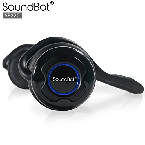 soundbot sb220 bluetooth headset wireless stereo headphone for music streaming handsfree. Black Bedroom Furniture Sets. Home Design Ideas