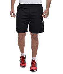 Surly Black Plain Polyester Shorts