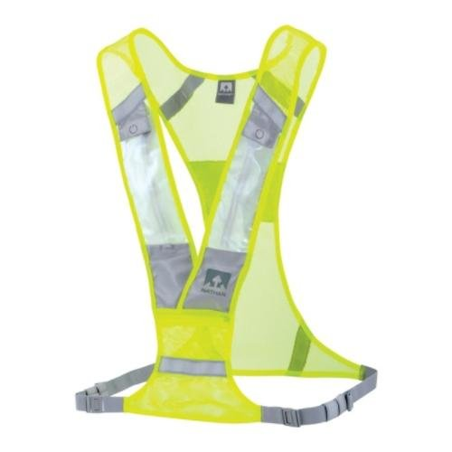 Nathan Nathan Proton LED Safety Light Vest: Neon Yellow; One size