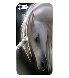 ColourCraft Lovely Horse Design Back Case Cover for APPLE IPHONE 4S