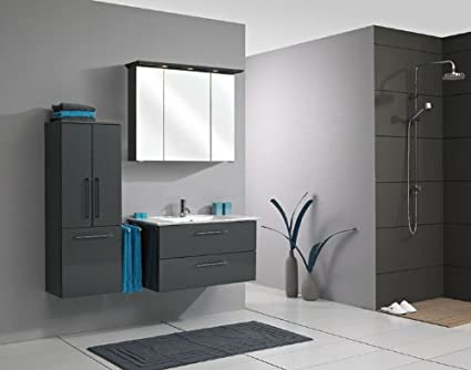 Pelipal Sonic 3–Piece Bathroom Furniture Set Washbasin / Cupboard / Mirror Cabinet / Comfort N