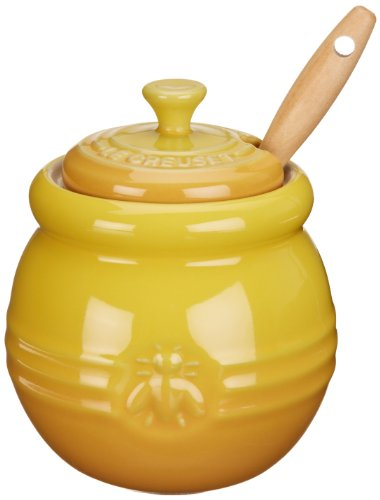 Le Creuset Stoneware 16-Ounce Honey Pot, Dijon