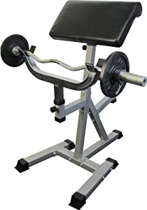 Valor Athletics Standing Arm Curl Preacher Bench with Pivoting Arm Pad by Ironcompany.com