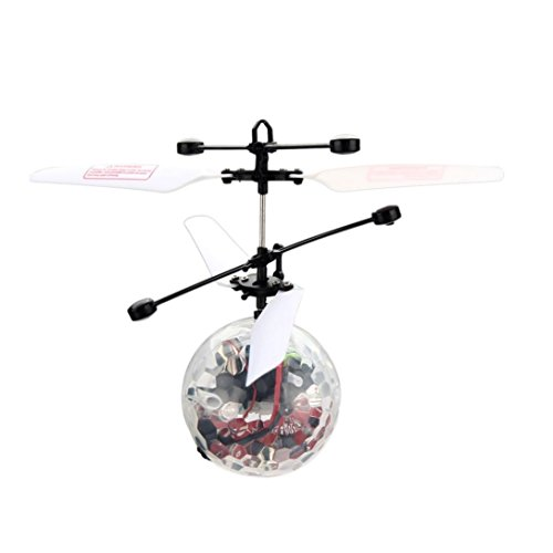 Perman Funny RC Flying Ball Infrared Induction Mini Aircraft Flashing Light Remote Toys for Kids