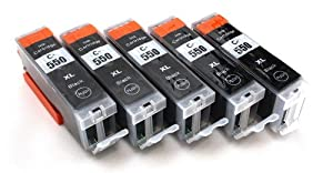 Mutipack - 5 compatible XL Ink cartridges Canon PGI-550XL BLACK for Canon iP7250 MG5450 MG6350 MX725 MX925