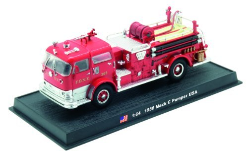 Mack C Pumper Fire Truck Diecast 1:64 Model (Amercom GB-1)