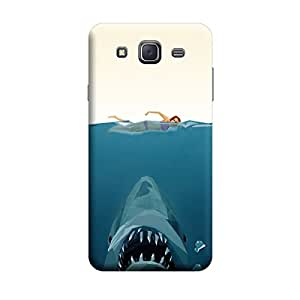 Samsung A7 Escaping From Sea Shark Premium Designer Polycarbonate Hard Back Case Cover with full Protection