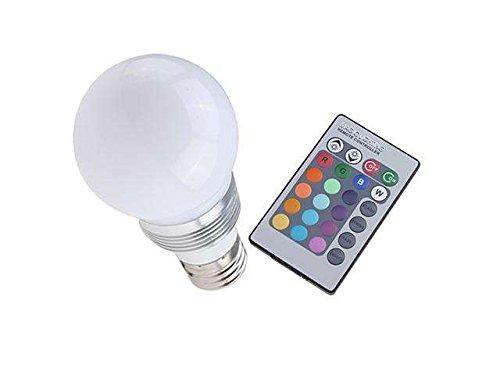 AGPtek® 16 Farbwechsel E27 3W RGB LED-Glühlampe-Lampe Wechselstrom 85V-265V + IR-Fernbedienung