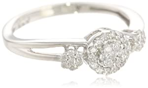Sterling Silver Diamond Fashion Ring (1/4 cttw, H-I Color, I1-I2 Clarity) from Amazon Curated Collection