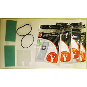 Hoover Tempo, Windtunnel One Year Supply Kit, 12 Vacuum Bags, 2 Final Filters, 2 Secondary Motor Filters, 2 Vacuum Cleaner Belts.