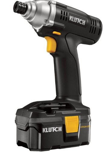 "Cordless Impact Driver. 18 Volt Lithium-ion 1/4 Klutch Impact Driver. Very Powerful Impact Gun Produces 1200"" Lbs Torque. Get the Job Done Quick and Easy with This Powerful Light Power Tool. Comes with Carrying Case."