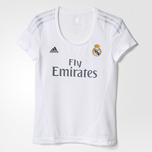 Adidas Real Madrid CF Home Womens Jersey-WHITE (L) (Adidas Real Madrid Cf compare prices)