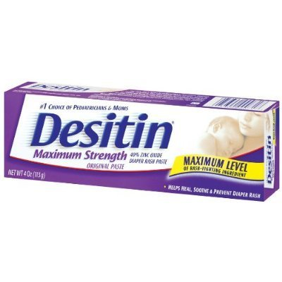 Desitin Maximum Strength Diaper Rash Paste 4 Oz (Pack of 6)