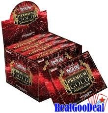 YuGiOh Premium Gold Infinite Gold Display Box [5 Mini Boxes] by Konami