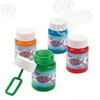 Lot Of 36 Plastic Inspirational Jesus Fish Mini Bubble Bottles Sunday School Supplies