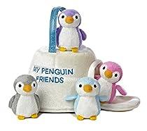 Aurora World Baby Talk My Penguin Friends Carrier Plush, 9