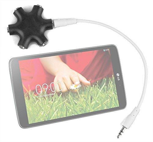 "Duragadget Jet Black 5-Way Headphone Splitter ""Star"" For Lg G Pad 8.3"