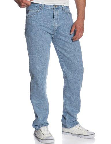 Wrangler Men's Rugged Wear Classic Fit Jean, Rough Wash Indigo Denim, 42x29