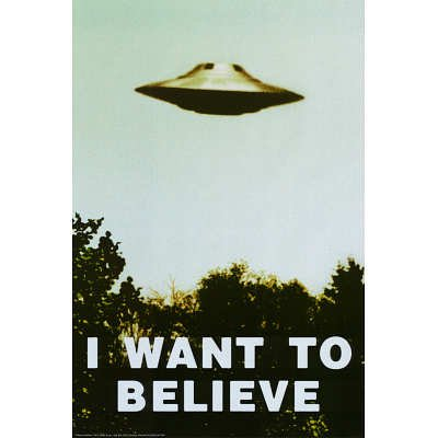 The X-Files - I Want To Believe Tv Poster Print - 24X36 Custom Fit With Richandframous Black 24 Inch Poster Hangers