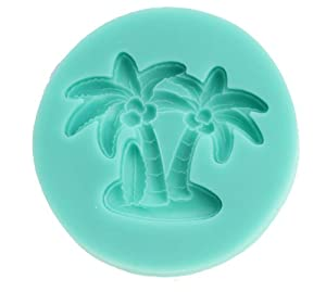 Afrom Here Coconut trees fondant cake mold Silicone Soap mold Craft Molds cake DIY... by Afrom Here