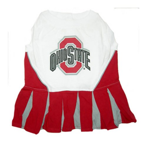 Mirage Pet Sports Fan Logo Design Ohio State Buckeyes Cheer Leading Outfit