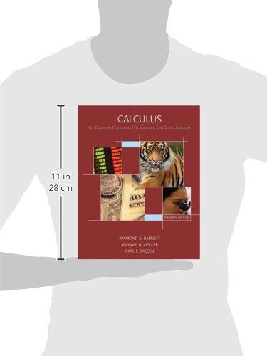 Calculus for Business, Economics, Life Sciences & Social Sciences + Tutor Center + Student Solutions Manual