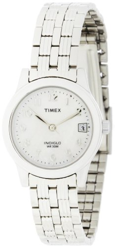 Timex Women's T2N255 Analog Silver-Tone Case and Bracelet Dress Watch