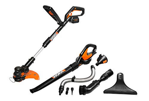WORX WG924.1 Li-Ion Combo Kit with WORXAIR Models WG175, WG575.1, WA3537 and WA3740, Battery and Charger Included (Blower And Weed Wacker Combo compare prices)