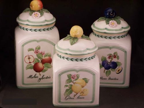 Villeroy Boch French Garden Fleurence 3 Piece Canister Set