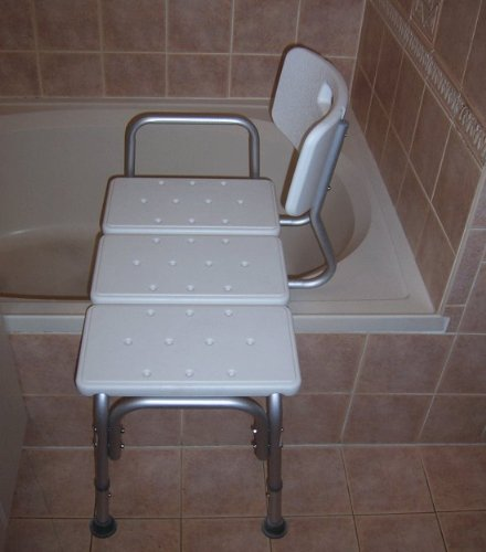 Bathtub shower aids transfer from wheelchair bench bath for How wide is a tub