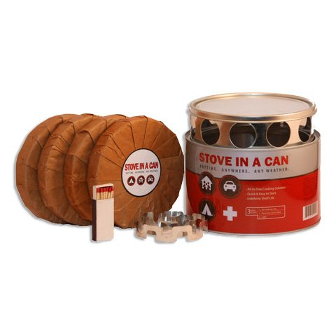 Stove In A Can - Portable Outdoor Camp / Cooking Kit - Perfect for Camping, Backpacking, Hunting, Tailgating, Emergency Survival, Food Storage (Can Propane compare prices)