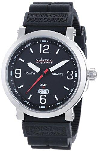 Nautec No Limit Speed SE QZ3/RBBKSTSTBK - Reloj para hombres, correa de goma color negro