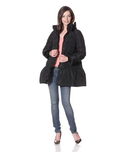 RED Valentino Women's Quilted Down Coat  - Black