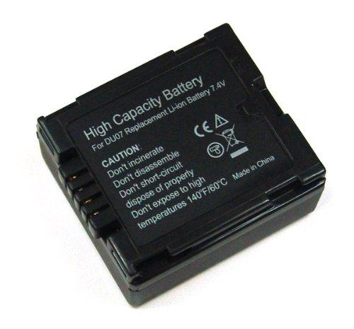 Akku Li-Ion für Panasonic PANASONIC CGA-DU07, für Panasonic NV-GS10, GS17, GS21, GS22, GS27, GS30, GS35, GS37, GS50, GS55, GS60, GS70, GS75, GS80EG-S, GS120, GS140, GS150, GS180, GS200, GS230, GS250, GS280, GS300, GS300EG-S, GS320, GS400, GS500, Panasonic SDR-H20, 20EG, H250, VDR-D150, D160, D160EG, D220, D250, D300, D310, M30, M50, M70
