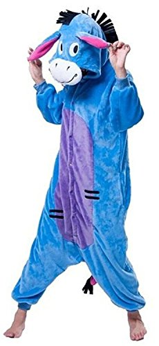 Y&T Adult Kigurumi Pajamas Cosplay Costumes Plus Unisex Pets Halloween Costumes (Small, Eeyore