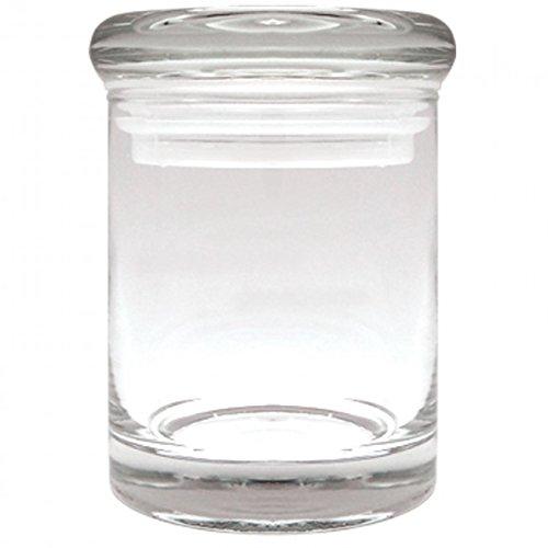 1 X Airtight 3 Inch Clear Glass Plain Stash Jar 90ml Medicine Container