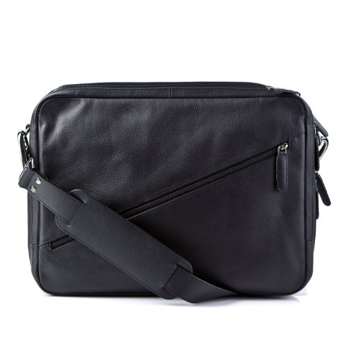 FEYNSINN large backpack TOM – shoulder bag fits iPad, 15 – black leather
