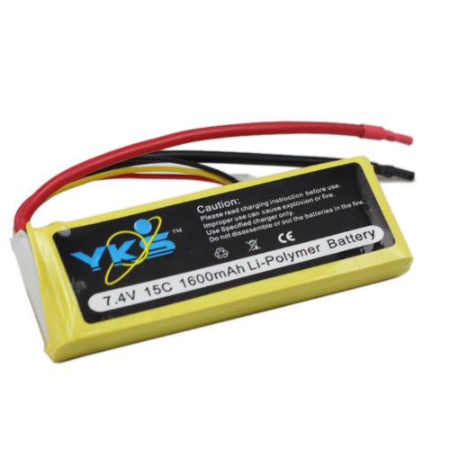 1600mah 2s 7.4v 15c Rc Car Lipo Battery Deans/traxxas 1/18