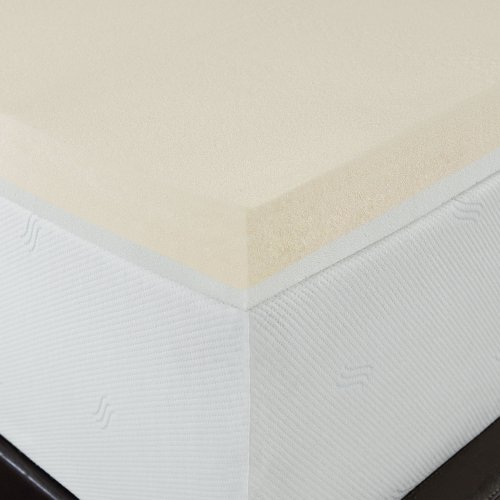 Serta Triple Layer Comfort, 4-Inch Memory Foam Mattress Topper, Queen