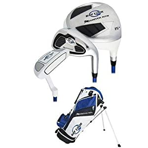 Ray Cook Golf Manta Ray Junior 5-Piece Golf Complete Set with Bag, Right Hand, Steel, Regular