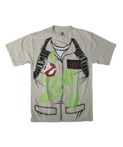 Ghostbusters Venkman Costume Glow in the Dark Khaki T-Shirt - Many Sizes